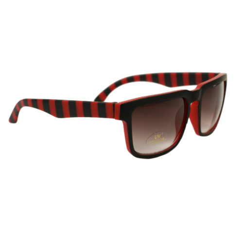 Gafas Independent Pattern Stripes Red Black