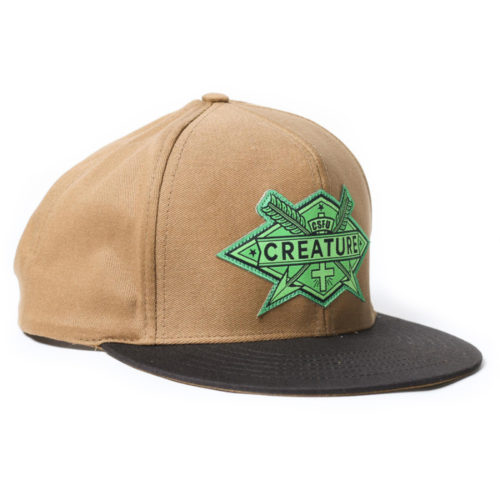Gorra Creature Snap Back Arrows Twill Brown
