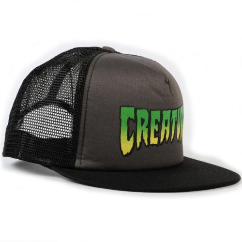 Gorra Creature Trucker Logo Hat Grey Black