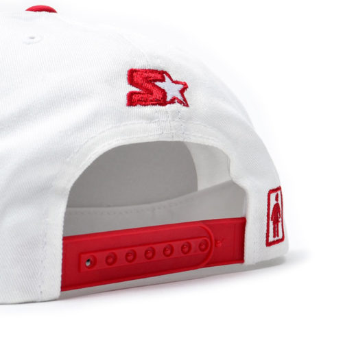 Gorra Girl Skateboards Starter Blanco Rojo