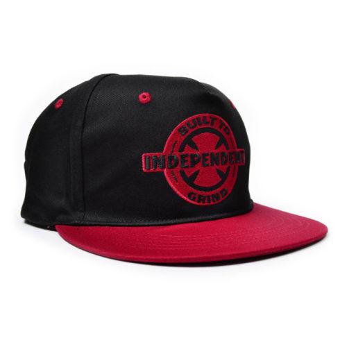 Gorra Independent Btg Ring Negro Rojo