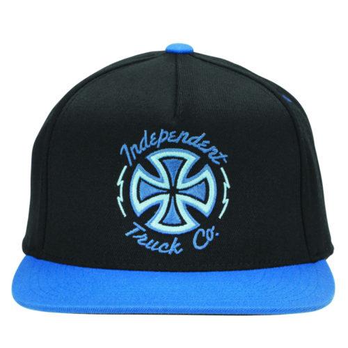 Gorra Independent Snap Back Felxfit Voltage Black Blue