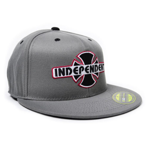 Gorra Independent Snap Back Fitted Stretch Hat Grey