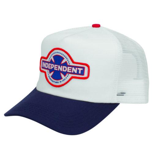 Gorra Independent Trucker Mfg Usa Navy White