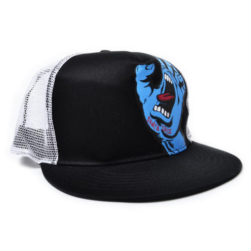 Gorra Santa Cruz Screaming Hand Camionera Negro Blanco