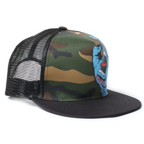Gorra Santa Cruz Screaming Hand Trucker Camo Black