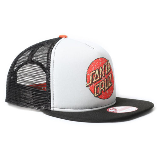 Gorra Santa Cruz Snap Back New Era Worn Dot Grey Black