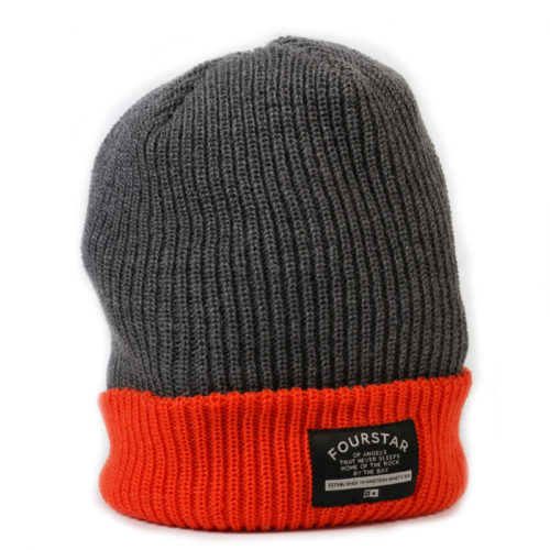 Gorro 4star Normal Gris Naranja