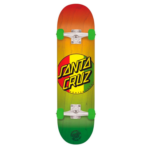Tabla Completa Santa Cruz Rasta Dot Regular 7.7