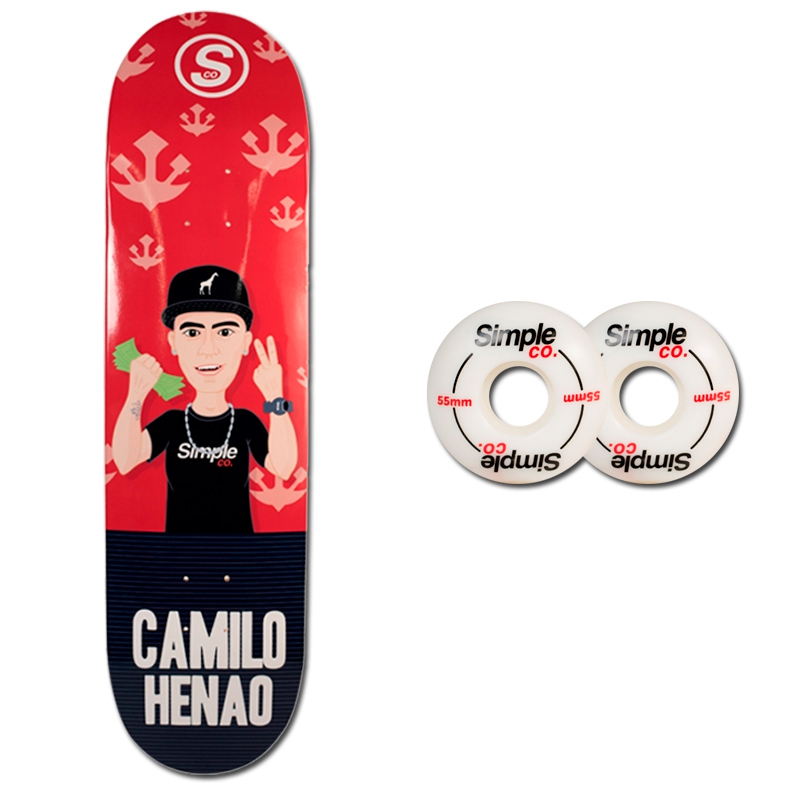 Tabla Simple Co Camilo Henao Ruedas Simple Co Logo 55mm