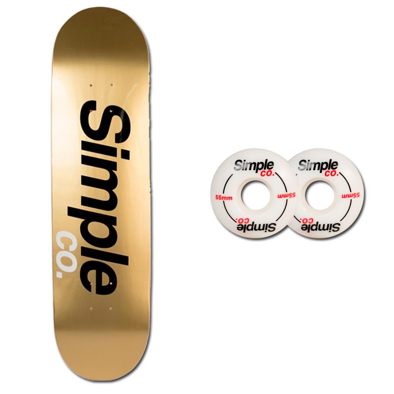 Tabla Simple Co Dorado Ruedas Simple Co Logo 55mm