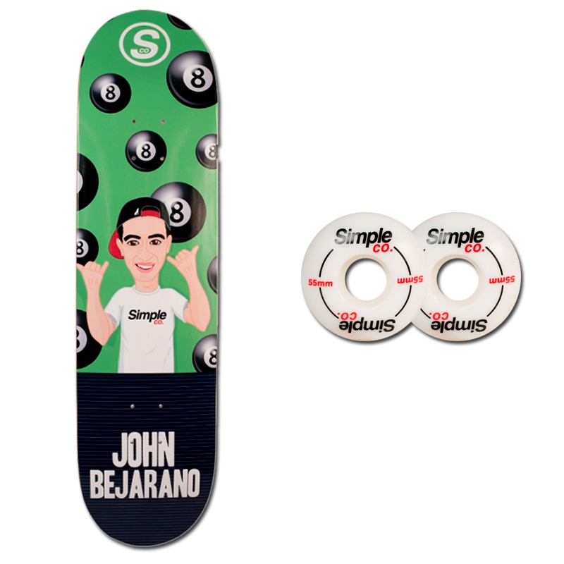 Tabla Simple Co John Bejarano Ruedas Simple Co Logo 55mm