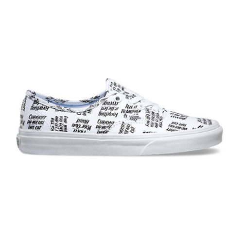 Zapatos Vans Authentic Baron Von Fancy White Black