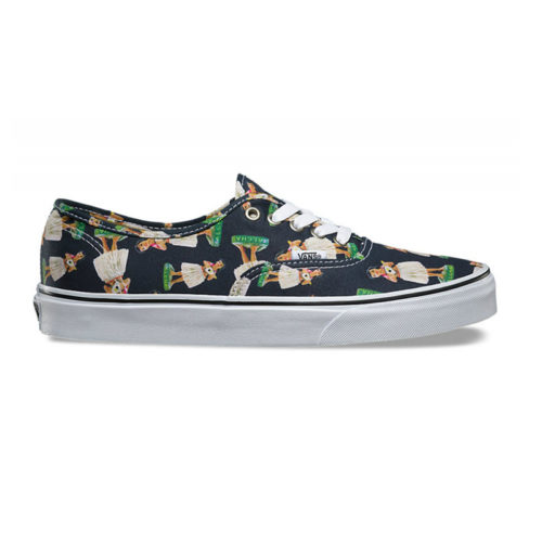 Zapatos Vans Authentic Digi Hula Parisian Nigth True White